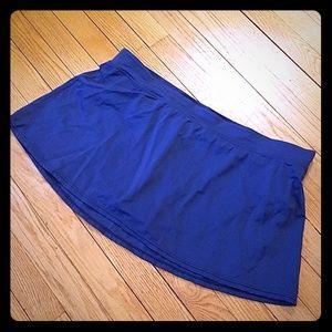 Tropical Escape Navy Blue Swim Suit Skirt